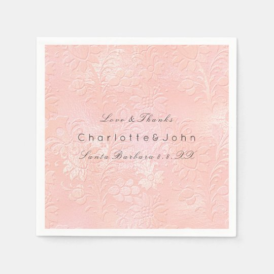 Blush Pink Rose Coral Gold White Floral Lux