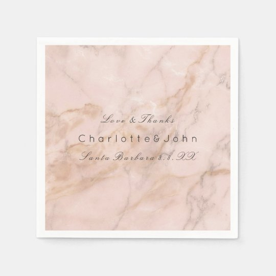 Blush Pink Rose Coral Gold White Gray Marble