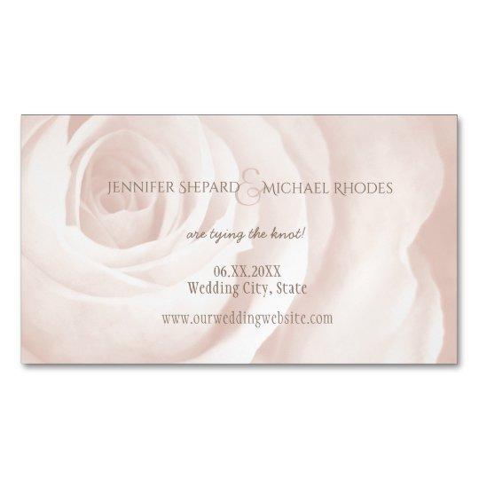blush pink rose elegant wedding save the date