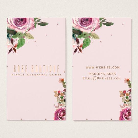 Blush Pink Rose Gold Floral Modern Chic Elegant