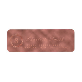 Blush Pink Rose Metallic Wreath VIP Monogram RSVP