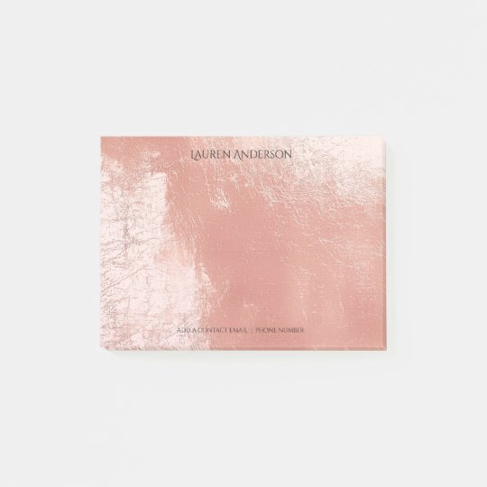 Blush Pink Rose Name Office Personalized Post-it Notes
