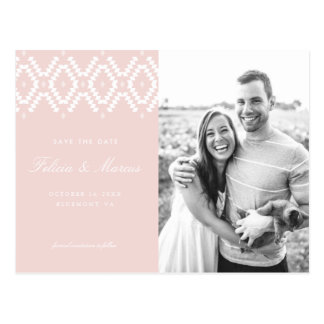 Blush Pink Save the Date postcard