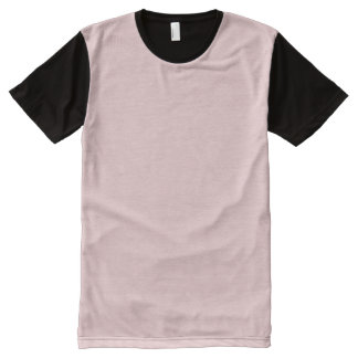 Blush Pink Solid Color All-Over Print T-Shirt