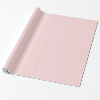 Blush Pink Solid Color Gift Wrap Paper