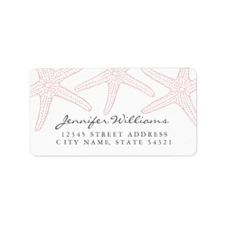 Blush Pink Starfish Address Label