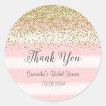 Blush Pink Stripes Bridal Shower Sticker
