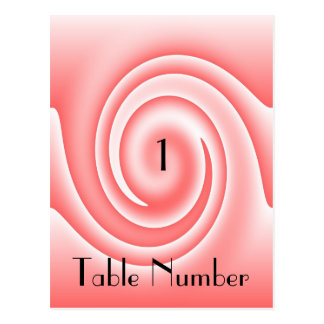 Blush Pink Table Number Card Postcard