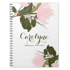 Blush Pink Tulips Personalised Notebook
