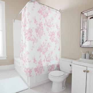 Blush pink vintage roses elegant floral shower curtain