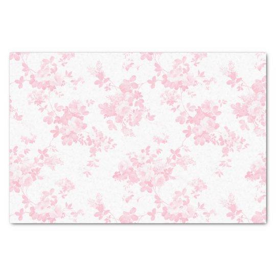 Blush pink vintage roses elegant floral tissue paper