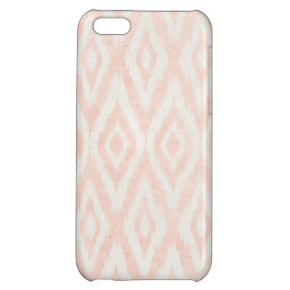 Blush Pink Watercolor Ikat Geometric Painted Print Cover For iPhone 5C