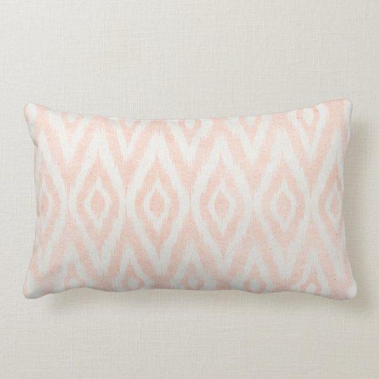 Blush Pink Watercolor Ikat Geometric Painted Print Lumbar