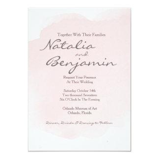 Blush Pink Watercolor Romantic Wedding Invitation