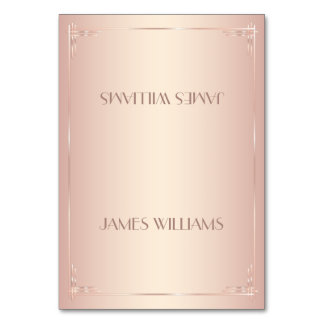 Blush Place Cards Vintage Table Card