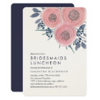 Blush Poppies Bridesmaids Luncheon Invitation
