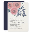 Blush Poppies Engagement Party Invitation