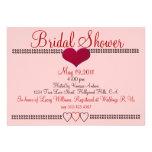 Blush Red Formal Bridal Shower Invitation