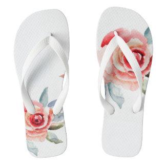 Blush rose flip flops