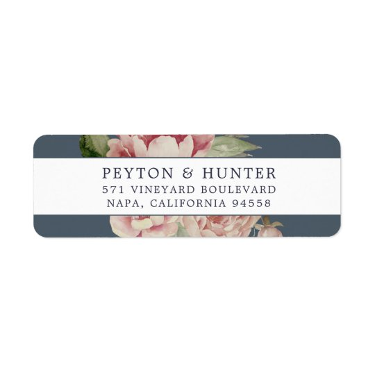 Blush Rose | Floral Return Address Return Address Label