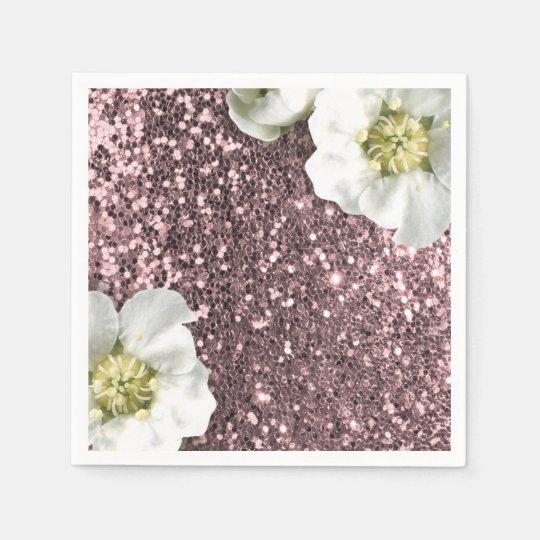 Blush Rose Gold Pink Jasmin Glitter Sequin Sparkl