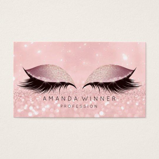 Blush Rose Gold Pink Lashes Makeup Eyes Glitter