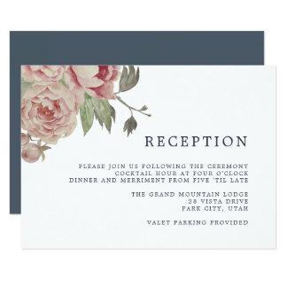 Blush Rose Reception Card