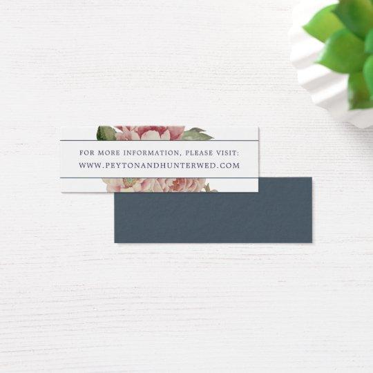 Blush Rose Wedding Website Cards | Mini