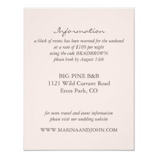 Blush Rustic Monogram Wreath Wedding Info Card 11 Cm X 14 Cm Invitation Card