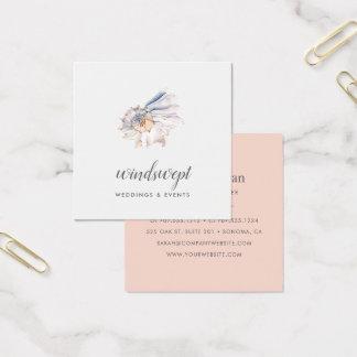 Blush Seashell Square Business Card