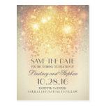blush shimmer elegant save the date postcards