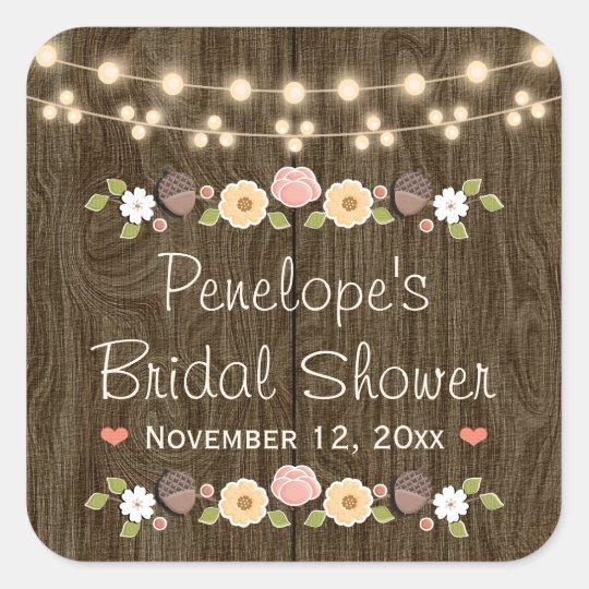 Blush String of Lights Rustic Fall Bridal Shower