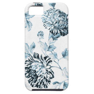 Blush Teal & White Botanical Floral Toile No.2 iPhone 5 Cover