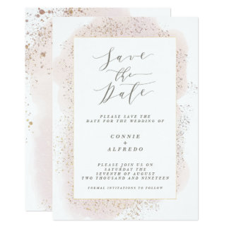 BLUSH TOUCH SAVE THE DATE CARD