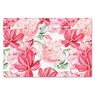 Blush Watercolor Floral Pattern Tissue Paper