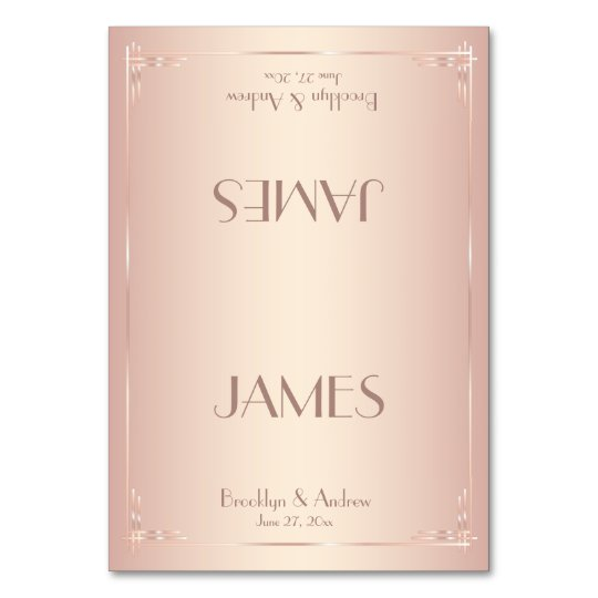 Blush Wedding Place Cards Vintage
