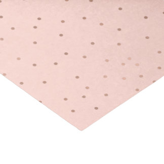 Blush with Rose Gold Polka Dot Tissue Paper