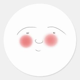 Blushes the Smiley Round Sticker