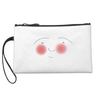 Blushes the Smiley Wristlet Purse