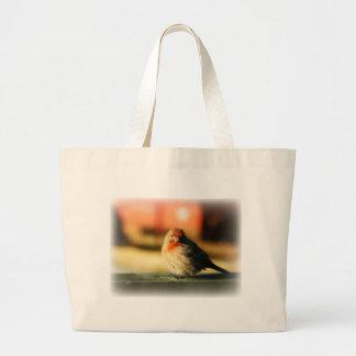 Blushing Birdie Canvas Bag