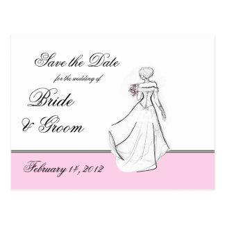 Blushing Bride Save the Date Postcard