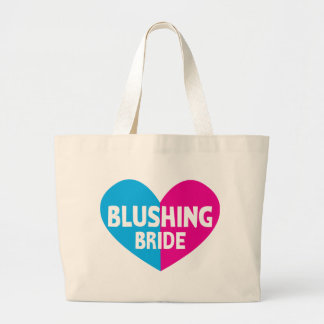 Blushing bride with heart tote bag