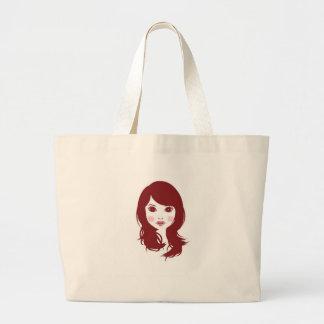 Blushing Brunette Canvas Bag