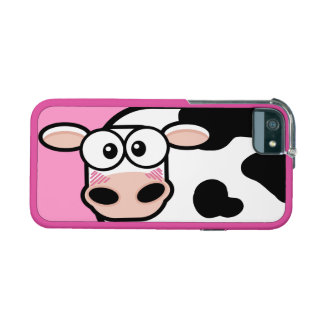 Blushing Cartoon Cow on Pink iPhone 5/5S Case