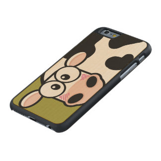 Blushing Cartoon Cow Carved® Maple iPhone 6 Slim Case