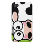 Blushing Cow on Green Case For iPhone 4
