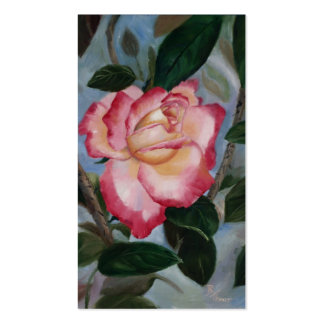 Blushing Delight Rose Art Cards Pack Of Standard Business Cards