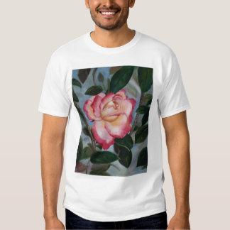 Blushing Delight Rose Ladies T-shirt