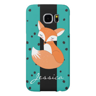 Blushing Fox with Custom Name Samsung Galaxy S6 Cases