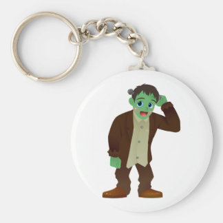 Blushing Frankenstein's Monster Scratching Head Keychain